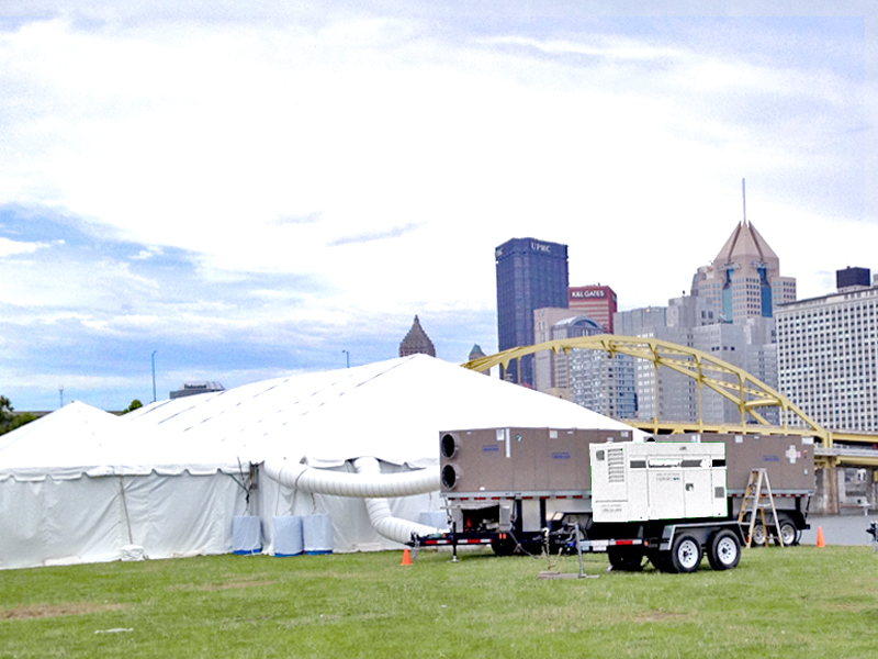 Tent Event Cooling Service & Event Cooling - Mobile AC Service for Tent Events